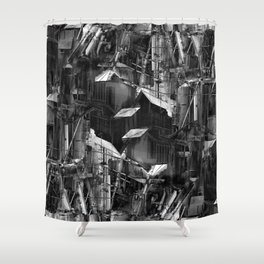 Post-Modern Industrial Complex:  The Art of Regressing Shower Curtain