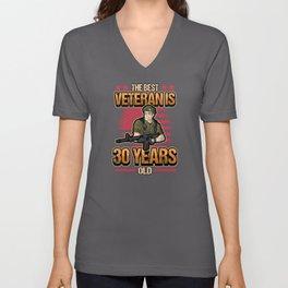 30th Birthday Soldier Military Military Service Unisex V-Neck