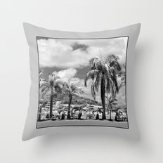 Palm Trees in the Suburbs Throw Pillow