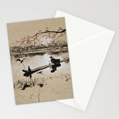 Bird Fishing Stationery Cards