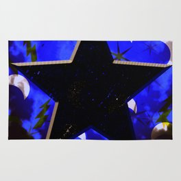 Black Star at Night Rug