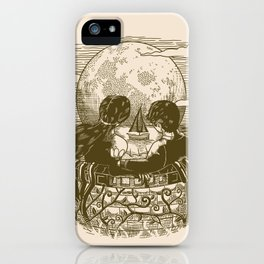 Love and Death At the Beach iPhone Case