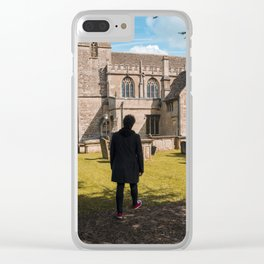 Cemetery walk Clear iPhone Case