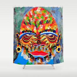 Goliath in detail Shower Curtain