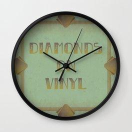 Diamonds on Vinyl Wall Clock