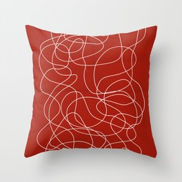 Headphone Maze Throw Pillow