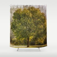 monet Shower Curtains featuring Morning Fog Monet by Elliott's Location Photography