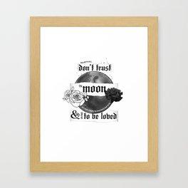 Good Mourning Lyrics Framed Art Print