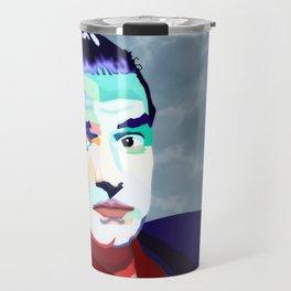 Portrait of Hans Holzel (Falco) Travel Mug