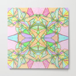 217 - Abstract distressed colourful design Metal Print