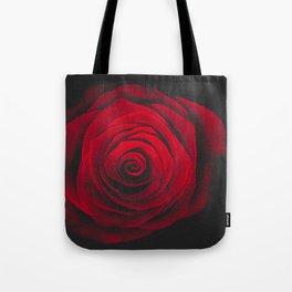 Red rose on black background vintage effect Tote Bag