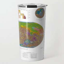 Mars Geological Surface Map Travel Mug