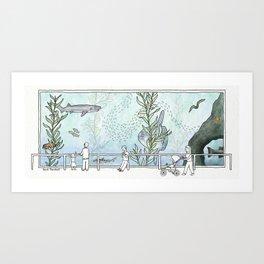Kelp Forest Tank v1 Art Print