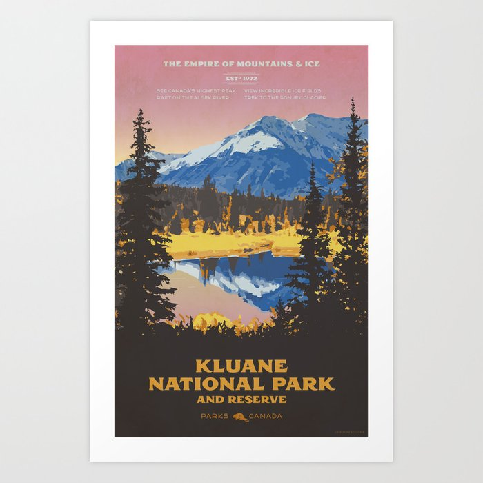Kluane National Park and Reserve Art Print