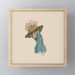 Bird in Hat 4 Framed Mini Art Print