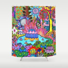 Pond Abstract Shower Curtain