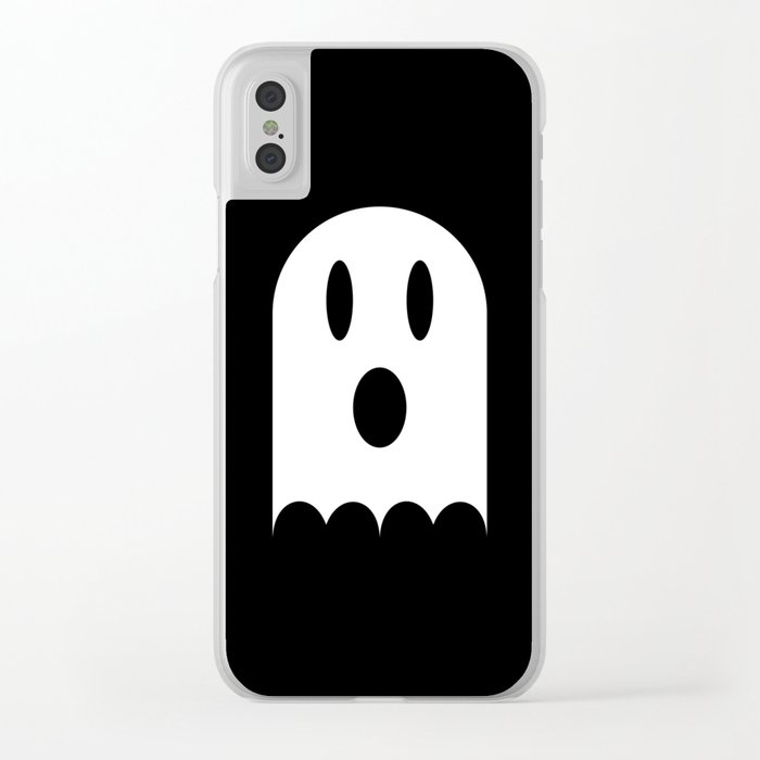 Scary Halloween Ghost Clear iPhone Case