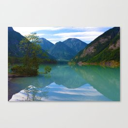 Morning Reflections on Kinney Lake in Mount Robson Provincial Park, British Columbia Canvas Print