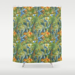 africa pattern elephant Shower Curtain