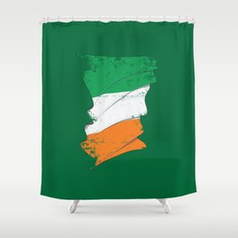 Distressed Irish Flag Ireland St Patricks Green Shower Curtain