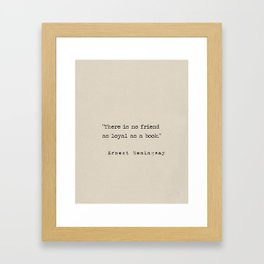 Great people about books Framed Art Print