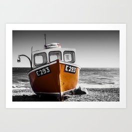 Fishing Boat on a Beach Art Print