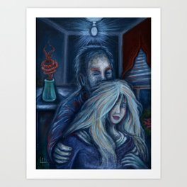 Man and Woman By The Window Art Print