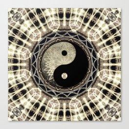 Yin Yang Geometry Mandala V1 Canvas Print