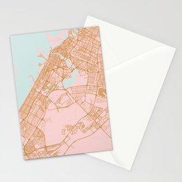 Dubai map, United Arab Emirates Stationery Cards