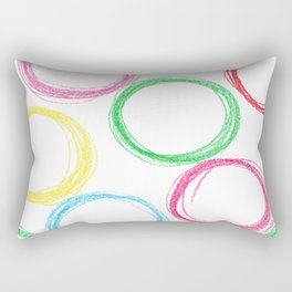Seamless pattern background with colored pencil circles Rectangular Pillow