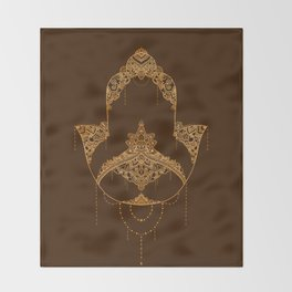 Autumn Hamsa Throw Blanket