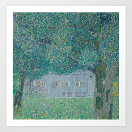 Farmhouse in Buchberg Art Print