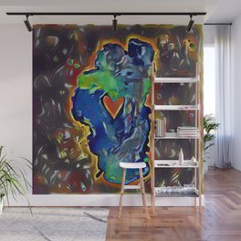 Rock Solid Love Wall Mural
