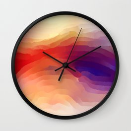 Red Glow Wall Clock