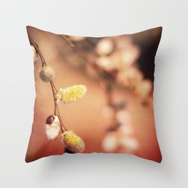 FLUFFY RED Throw Pillow