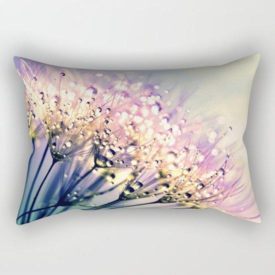 Pastel Dandelion Dew Rectangular Pillow