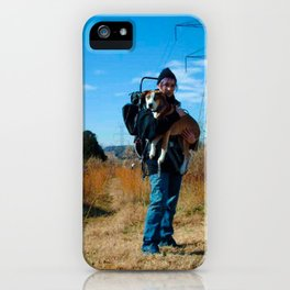 The Traveler's portrait iPhone Case
