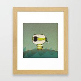 Green Pirate Framed Art Print