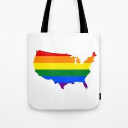 Love Wins Map Tote Bag