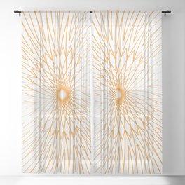 Mandala, Bicycle Wires 7 Sheer Curtain