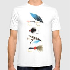 Fly fishing Mens Fitted Tee MEDIUM White