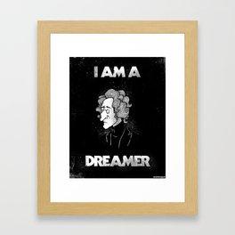 I am a Dreamer - Lennon Illustration Framed Art Print
