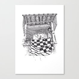 Sèche-linge Urbain Canvas Print