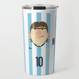 Lionel Messi Argentina Illustration  Travel Mug