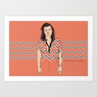 coconutwishes Art Prints featuring Harry Chevron  by Coconut Wishes