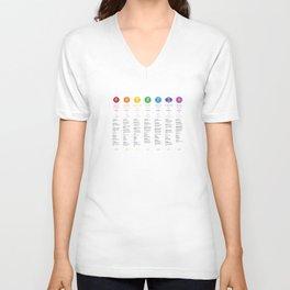 7 Chakra Chart & Symbols #21 Unisex V-Neck