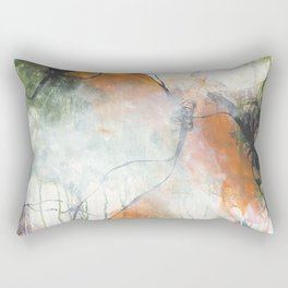 Thicket  - Square Abstract Expressionism Paintng Rectangular Pillow