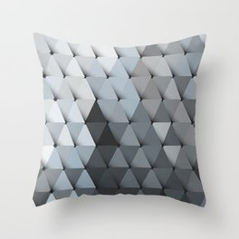 Triangles Slate Blue Gray Throw Pillow