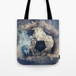 Abstract Grunge Soccer Tote Bag