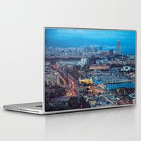 barcelona Laptop & iPad Skins featuring Barcelona by AnnaGo